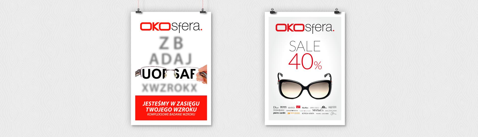 Plakaty reklamowe OKOsfera.
